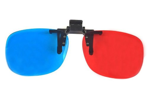 FOONEE Professional Direct,Clip 3D Glasses Anaglyph Glasses for Movie Game,Red&Cyan