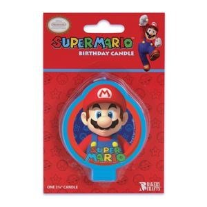 Super Mario Birthday Party Cake Candle