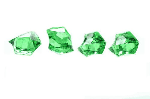 WeGlow International Acrylic Ice Gem Stones, Green