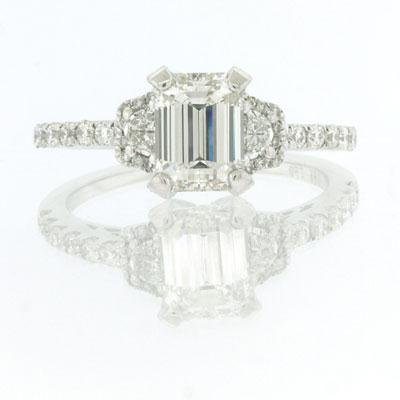 1.86ct Emerald Cut Diamond Engagement Anniversary