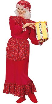 Traditional Mrs. Santa Claus Adult Christmas Costume