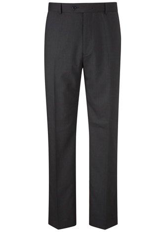 Austin Reed Regular Fit Charcoal Travel Trouser LONG MENS 38