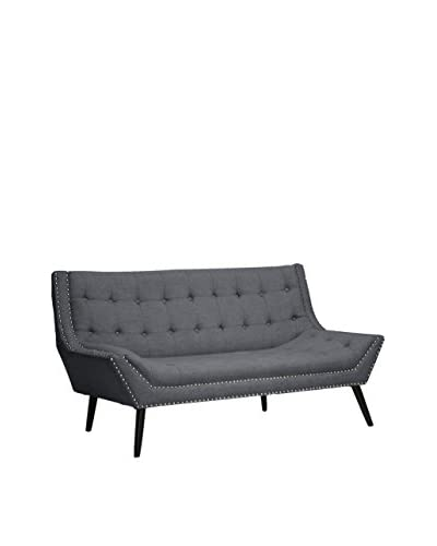 Baxton Studio Tamblin Modern Loveseat, Grey As You See
