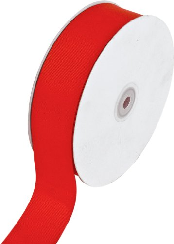 Read About Creative Ideas Solid Grosgrain Ribbon, 1-1/2-Inch by 50-Yard, Red