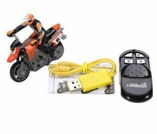 1/43 IR 4 Channel RC Stunt Motorcycle High Speed Competitive Motorcycle (Orange) by Completestore