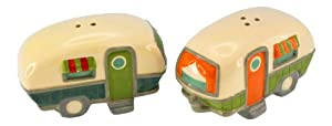 Camper Design Salt and Pepper Shaker Set - Ceramic by Beachcombers