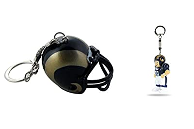 Bundle - 2 Items: Los Angeles Rams Helmet and LIL' SPORTS BRAT Keychain