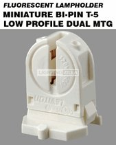 Leviton 23654-SWP Miniature Base, T5 Bi-Pin, Fluorescent Lampholder, Low Profile, Internal Shunt, White