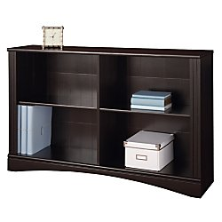 Realspace(R) Dawson 2-Shelf Sofa Bookcase, 29In.H X 47 1/4In.W X 11 3/5In.D, Cinnamon Cherry