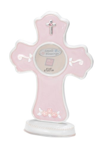 Russ Berrie Cross Photo Frame, Pink (Discontinued by Manufacturer)