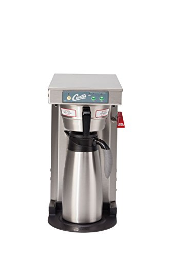 Wilbur Curtis G3 Low Profile Airpot Brewer 2.5L Airpot/Pourpot Single Low Profile Coffee Brewer Stainless Steel Finish - Commercial Airpot Coffee Brewer - Tlp12A (Each)