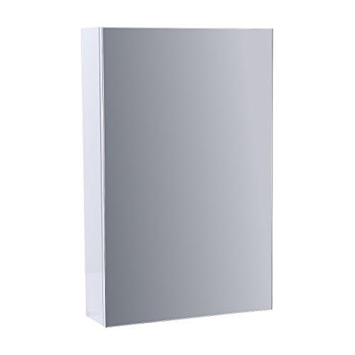 Perfect Cheap ENKI Mirror Cabinet White Gloss Vanity Unit Bathroom Wall Mount HORIZON