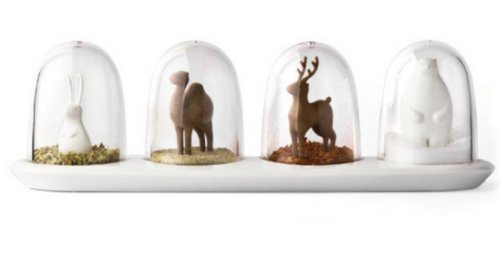 Animal Parade / Four Seasons Spice Seasoning Salt Pepper Bottle Shaker Jar Container w/ Lid (Set of 4 Animal Parade)
