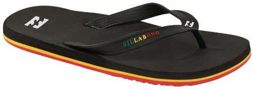 Billabong Mens All Day-Solids Sandal, Rasta, 13 front-890381