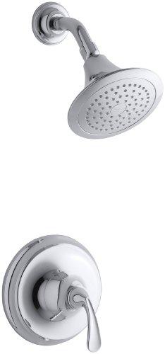 KOHLER K-T10276-4E-CP Forté Sculpted Rite-Temp Pressure-Balancing Shower Trim Set, Valve Not Included, Polished Chrome (Kohler Forte Valve Trim compare prices)