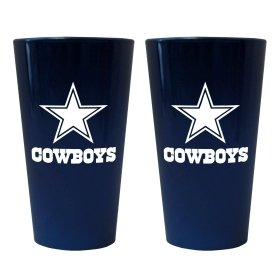 Dallas Cowboys Lusterware Pint Glass - Set Of 2 by Hall of Fame Memorabilia