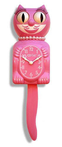 The Original Kit Cat Klock - Limited Edition Honeysuckle Pink Lady Kit-Cat Clock
