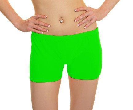 womens-short-en-lycra-pour-filles-rose-fluo-neon-sexy-et-autres-couleurs-vives-vert-small