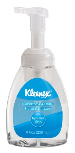 Kimberly-Clark 34089 Kleenex Moisturizing Foam Hand Sanitizer, 8 Oz. Pump Bottle (Case Of 12)