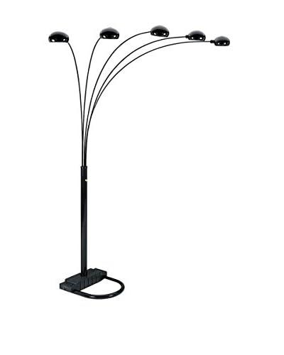 ORE International 5-Arm Arch Floor Lamp, Black