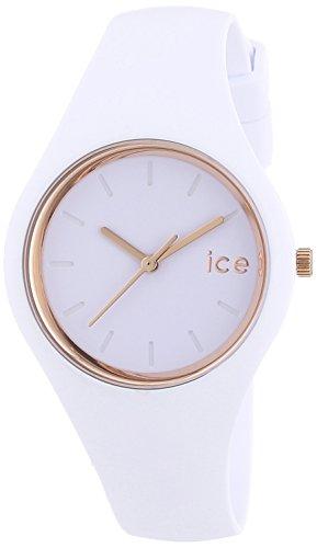 [アイスウォッチ]ICE-WATCH アイスグラム - ホワイト ローズゴールド -スモール ICE.GL.WRG.S.S.14  【正規輸入品】