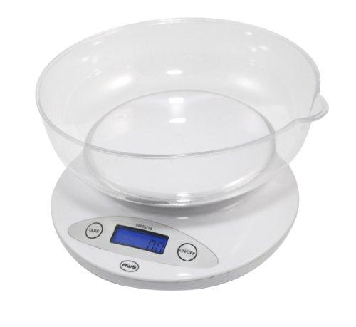 AWS 5KBOWL-WT am-ricaine p-sent 5 kg Bowl Scale - Blanc