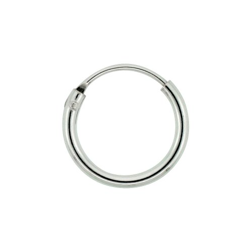 Sterling Silver Small Endless Hoop Earrings for cartilage, Nose and Lips