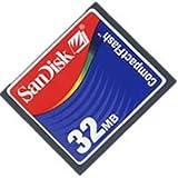32MB CF (Compact Flash) Card Sandisk SDCFB-32 (CNY)-Flash Memory