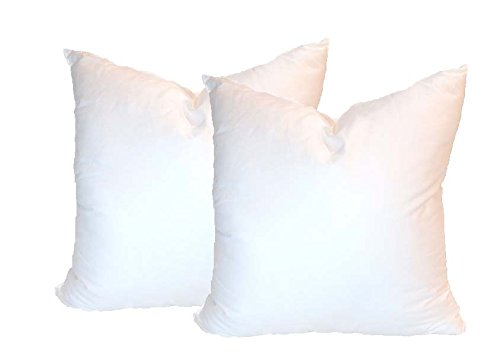 New Pillowflex Set of 2 Synthetic Down Alternative Pillow Inserts for Shams (16 Inch by 16 Inch)