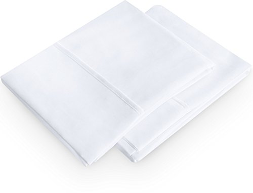 Pillowcases 2 Pack – (Queen, White) - Brushed Microfiber Pillow Covers - Maximum Softness - Elegant Double-Stitched Tailoring - Reduces Allergies and Respiratory Irritation