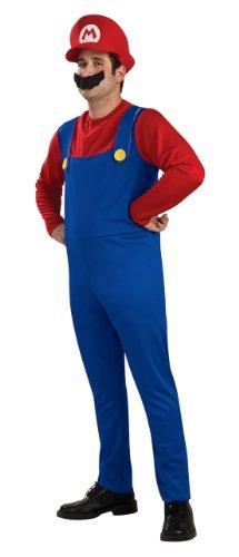 Mario Adult Costume マリオ大人用コスチューム♪ハロウィン♪サイズ:Medium