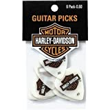 6 x Harley Davidson Jim Dunlop White Acetal Guitar Picks Plectrum 073mm Gauge