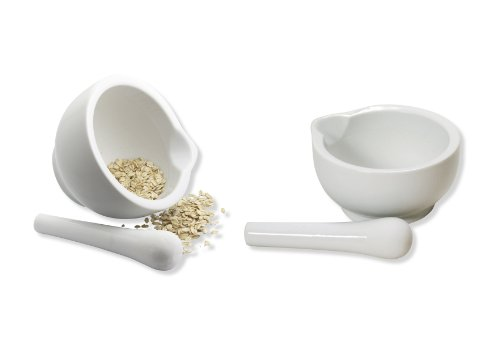 Point-Virgule PV40101 White Mortar With Pestle, Large, 11x8.5cm