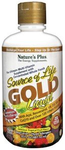 Natures Plus - Source Of Life Gold liquid Ultimate Multi-Vitamin Delicious Tropical Fruit Flavor - 30 oz
