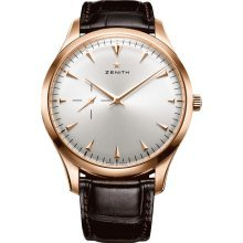 Zenith Men's 18.2010.681/01.c498 Elite Rose gold Silver Sunray Dial Watch