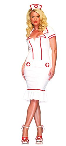 Leg Avenue Womens Miss Diagnosis Doctor Nurse Outfit Fancy Dress Sexy Costume