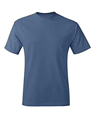 Hanes Men's Tagless T-Shirt (Denim Blue) (2X-Large)