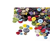 PLAY BUTTONS IN DIFFERENT SIZES SHAPES AND COLOURS 500G Q17by Buy Craft Direct Ltd