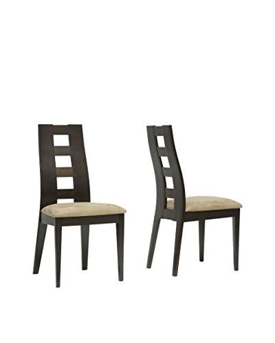 Baxton Studio Set of 2 Paxton Dining Chairs, Tan