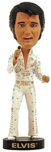 Royal Bobbles Elvis Presley in American Eagle Jumpsuit Aloha Hawaii Bobblehead