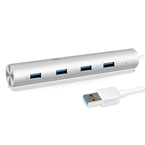 1byone-Super-Speed-Aluminium-USB-30-7-Port-Hub-schnelle-Datenbertragung-bis-zu-5-Gbps-Hub-fr-Macs-MacBooks-MacBook-Pro-MacBook-Air-Mac-Minis-sowie-andere-PCs-Silber