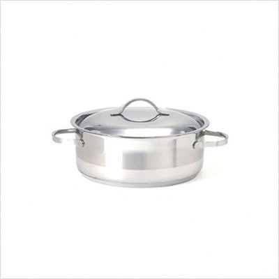 Cuisinox POT-C30-RD Gourmet Covered Rondeau Roasting Pan, 7-Liter/8-Quart, Stainless Steel