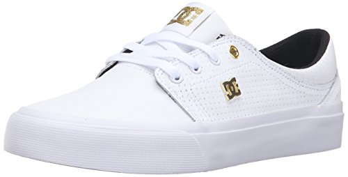 DC Trase LE Skate Shoe, White/Gold, 10 M US