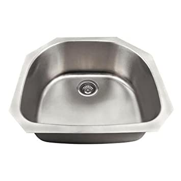 Undermount Stainless Steel 23-3/4 in. Single Bowl Kitchen Sink