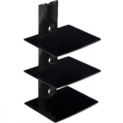 Cheetah Mounts AS3B 3 Component Shelf Wall Mount Bracket for LCD, LED, Plasma TV Components