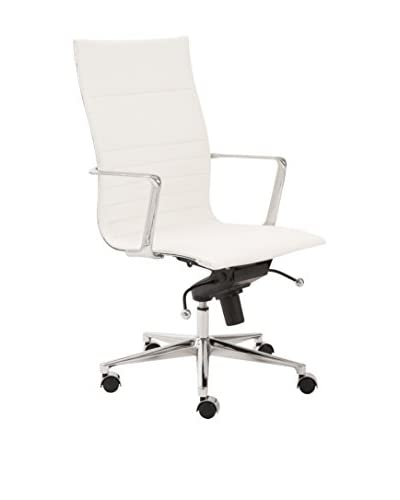 Euro Style Kyler High Back Office Chair, White