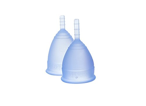 Lunette Menstrual Cup - Model 1 & 2 - Blue - 2 Pack (Lunette Model 1 compare prices)