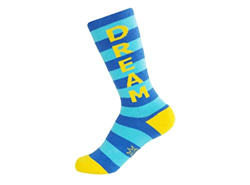 Dream Socks - Kids Royal Blue, Turquoise and Yellow Unisex Knee High Socks