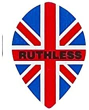 Ruthless - 1756 - Union Jack British Flag - 1 Set of 3 - Double Thick Tear Drop Pear Shaped Dart Fli
