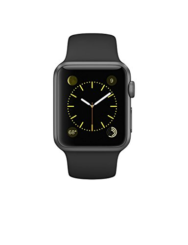 Apple MJ2X2LL/A Sport Band, Space Grey Aluminum Case/Black, 38 mm